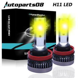 Mini H11 Led Headlight Kit 110w 22000lm High Beam Or Fog Light Bulb 3000k Yello