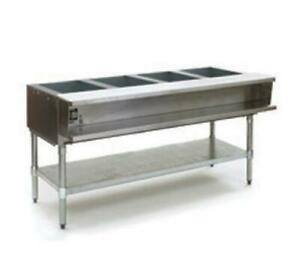 Eagle Group Awtp4 4 well Gas Steam Table W Galvanized Shelf Safe Pilot