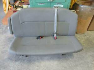 08 15 Ford Econoline Van Xl 2nd Row 3 Passenger Gray Cloth Bench Seat W Arm