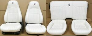 1997 Camaro Ss 30th Anniversary White Leather Seat Set Front Rear Used Oem Gm