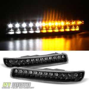 Blk 1999 2006 Gmc Sierra Yukon Led Bumper Parking Signal Lights Lamps Left right