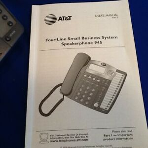 Att Four line Small Business System With Eight Phones Speakerphone 945