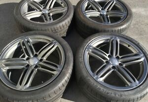Audi Q7 Oem Factory Genuine Speedline 21 Gunmatel Gray Wheels Tires