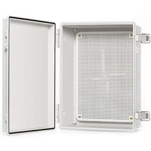 Junction Box With Mounting Plate 370x270x150mm Hinge Door Dustproof Box Abs
