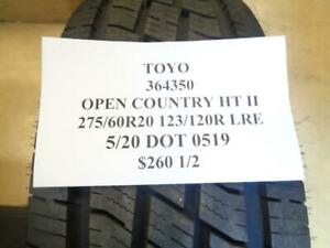 2 New Toyo Open Country Ht Ii 275 60 20 123 120r Lre Tires 364350 Q0