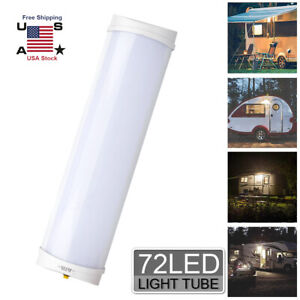 Led Rv Caravan Trailer Boat Interior Ceiling Dome Light White Lamp 6000k12v 12w