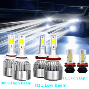 For 2013 2014 2015 Honda Accord Combo Led Headlight High Low Beam Fog Light Kit