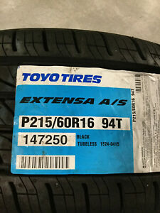4 New 215 60 16 Toyo Extensa A S Tires