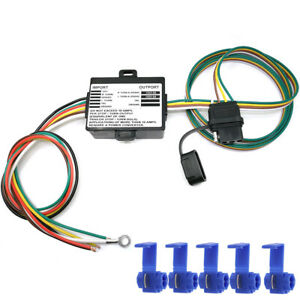 Powered 3 To 2 Wire Trailer Taillight Converter With 60 Wiring Led Compatible