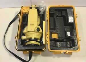 Topcon Dt 104 Digital Theodlite Transit Level With Case And Instruction Manual