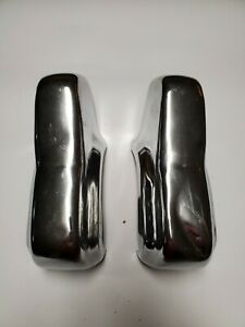1950 Plymouth Front Rear Bumper Guards Set Of 2 Pieces Chrome
