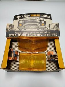 1950 Plymouth New Amber Parking Light Kit Glass Lens Collectible Lynx Eye