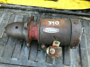Ih Farmall 340 Row Crop Good 6v Starter And Solenoid Off Running Tractor
