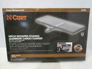 Curt Hitch Mounted Folding Aluminum Cargo Carrier 18100