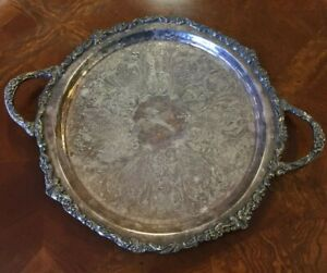 Sheridan Silver Plated Oval Double Handled Serving Tray
