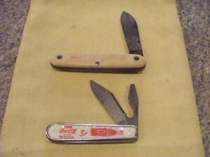 2 USA Coca-Cola Knives-Older 1 is Single Blade- Other Colonial Prov USA