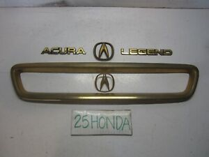 1991 1993 Acura Legend Sedan Gold Package Grill Emblem Set Oem Jdm Ka7 Rare