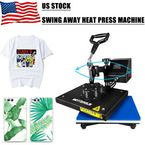 Digital Heat Press Machine 360 Swing Away 9 x12 printing Transfer Diy T shirt Us