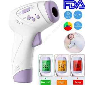 Digital Lcd Infrared Thermometer Non contact Forehead Temperature Gun