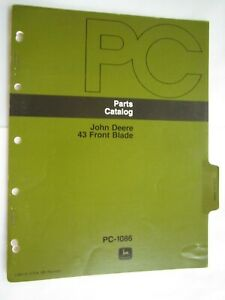 John Deere 110 112 Lawn Tractor 43 Front Blade Parts Catalog Manual Pc 1086