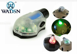 WADSN Airsoft Tactical Helmet Survival Lamp Green Blue Red IR LED Signal Light $27.25