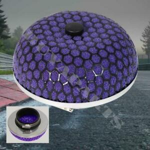 3 High Flow Washable Cold Air Turbo Mushroom Shape Intake Filter W Clamp Purp