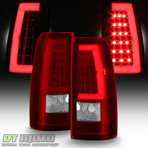 1999 2006 Gmc Sierra 1500 99 02 Chevy Siverado Red Led Tube Tail Lights Lamps