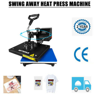 Digital Heat Press Machine Sublimation Transfer Swing Away 9 x12 Diy T shirt