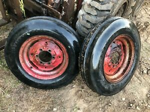 Ih Farmall 6 Bolt Front Rims And Firestone 6 00x16 Tires Nice