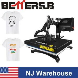 12 x9 Swing Away Heat Press Machine Sublimation For T shirt Printing Clothes Us