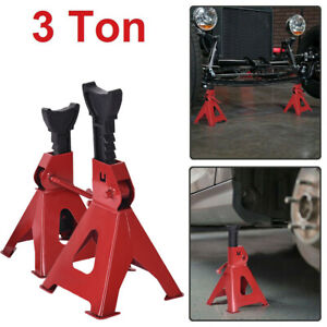 3 Ton High Lift Jack Stands 2 Pcs Pair Car Auto Garage Mechanic Vehicle Support