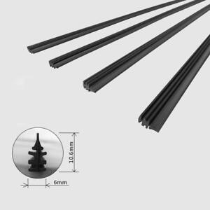 2pcs 26 6mm Car Bus Silicone Universal Frameless Windshield Wiper Blade Refill