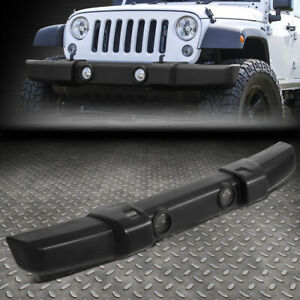 For 07 18 Jeep Wrangler Textured Front Hood Lower Bumper Cover W Fog Light Holes