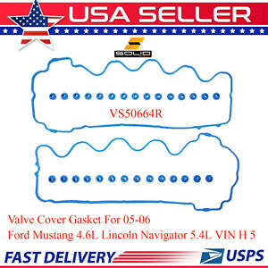 Solid Valve Cover Gasket For 2005 06 Ford Mustang 4 6l Lincoln Navigator 5 4l