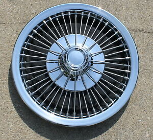 One Ford Or Mercury 14 Wire Spoke Hubcap Wheel Cover 1968 1969 1970 Oem