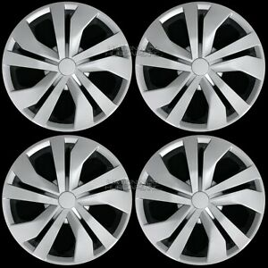 15 Set Of 4 Silver Wheel Covers Snap On Full Hub Caps Fit R15 Tire Steel Rim