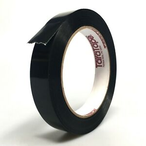 Black Strapping Tape 0 7 X 60yds Tubeless Tensilized Packing Polypropylene
