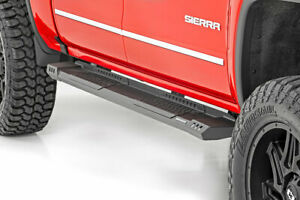 Rough Country Hd2 Running Boards fits 07 18 Chevy Silverado Sierra double Cab
