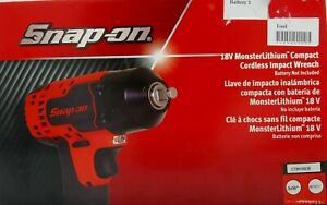 New Snap On18v Monsterlithium Compact Cordless Impact Wrench Ct8810bdb W Battery