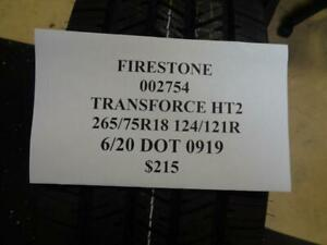 1 New Firestone Transforce Ht2 265 75 18 124 121r Tire 002574 Q0