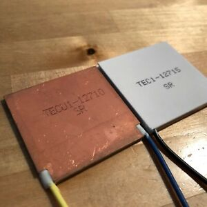 Tecu1 12710 Copper Thermoelectric Peltier Plate Module 40 40mm