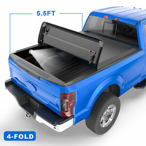 5 5ft 4 Fold Truck Bed Soft Tonneau Cover For 2015 2020 Ford F150 Super Crew Cab