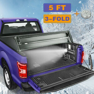 5 Ft Tonneau Cover Truck Bed For 2005 2015 Toyota Tacoma Waterproof Tri Fold
