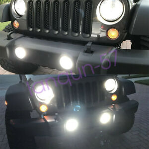 Fit For Jeep Wrangler 2010 2020 Led Headlight Hi low Beam Fog Light 4x Bulbs