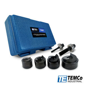 Temco Th0397 Manual Knockout Punch Kit 1 1 4 Electrical Conduit Hole Sizes