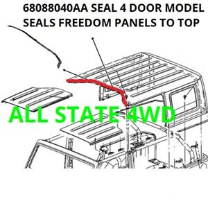 Jeep Wrangler Jk 4 Dr Hard Top Middle Seal 68088040aa Between Front Back Top