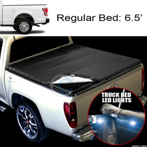 Snap on Tonneau Cover 16x Led Lights 99 16 F250 f350 Superduty 6 5 78 Truck Bed