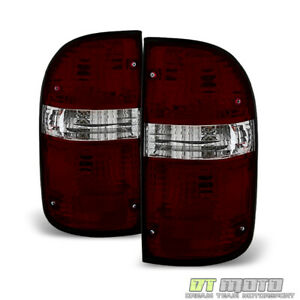 For 2001 2004 Toyota Tacoma Red Smoked Tail Brake Light Left right 01 02 03 04