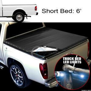 Snap on Tonneau Cover 16x Led Lights 83 11 Ford Ranger 6 Ft 72 Truck Short Bed