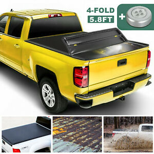 5 7ft 5 8ft 4 Fold Truck Bed Tonneau Cover For 2009 19 Dodge Ram 1500 Brand New
